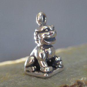 Guardian Lion Charm .925 Silver Imperial Fu Dog